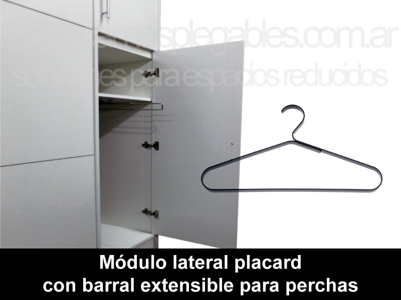 Módulo lateral placard con barral extensible